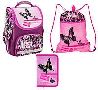 Школьный набор для девочки Рюкзак, сумка для обуви, пенал Kite Animal Planet 501
