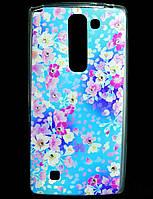 Чехол накладка для LG Magna H502F силиконовый Diamond, Летний букет
