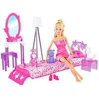 Кукла Steffi в спальне с мебелью Simba 5730411