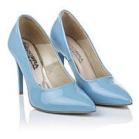 Туфли голубого цвета Cobra (роскошные, изысканные, элегантные, модные, стильные)