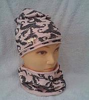 Детская шапка на девочку Prada с хомутом