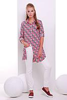 Платье -рубашка розовая в клетку  TAYLOR, фото 1