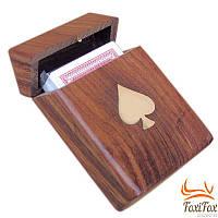 Игральные карты в деревянном футляре Sea Club