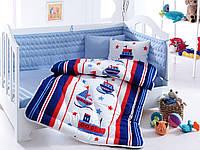 """Набор постельного белья в кроватку с бортиком и одеялом Cotton Box """"Denizci"""""""