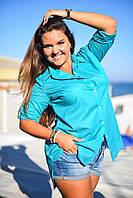 """Стильная женская рубашка """"Vouale"""" с длинным рукавом (большие размеры)"""