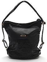 Стильная черная женская сумка-рюкзак  Б/Н art. 1008