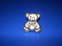 Детская ручка мишка сатин - золото