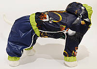"Дождевик ""Панда кунг фу"" Vip Doggy (мальчик) с капюшоном размер L"