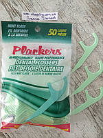 Зубочистки с зубной ниткой с мятным вкусом