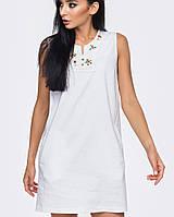 Белое льняное платье | 2014 br