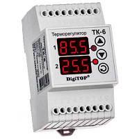 Цифровой терморегулятор двухканальный ТК-6 (-55,9....+125 С; 6 А)