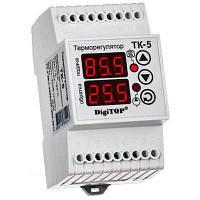 Цифровой терморегулятор двухканальный ТК-5 ( 0...+90 С;)