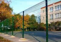 Ограждение / Забор секционный 0,62 м х 3 м из сварной сетки с полимерным покрытием. Рубеж. Проволока d 4*4 мм