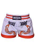 Шорты для тайского бокса Berserk Sport Muay Thai Fighter white TF8900W