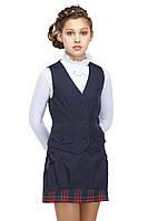 Школьный жилет для девочки синего цвета АЛИНА 36-40Р