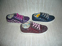 Демисезонные кеды слипоны для девочек Clibee размеры 27-32