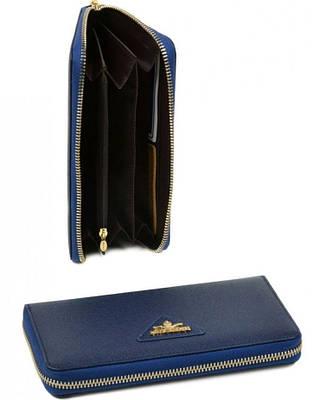 Женский компактный кошелек FiJi из натуральной кожи Bretton WF-38 blue (синий)