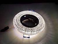 Точечный светильник Feron CD877 с LED подсветкой прозрачный