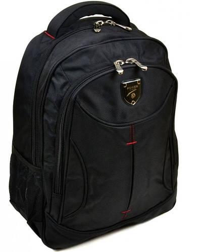 Стильный черный городской рюкзак с плотной спинкой полиэстер 22 л. Power in Eavas 5213 black