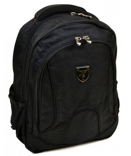 Черный городской рюкзак с плотной спинкой полиэстер 22 л. Power in Eavas 5209 black