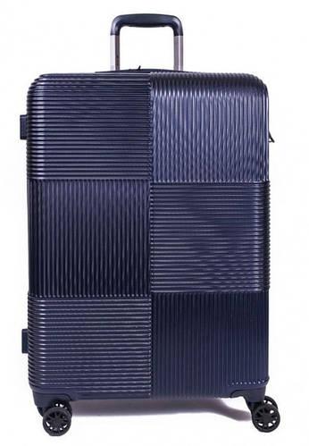 Большой 4-колесный практичный чемодан 108 л. MARCH Avenue 3241/04 т. синий