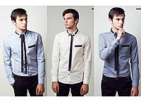 "Рубашка с ""галстуком"" TOS 3208/1 (р.2XL-3XL)"