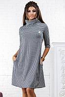 Женское платье гусиная лапка