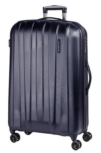 Чудесный современный 4-колесный чемодан из пластика 108 л. MARCH Rocky 3651/47 черный/синий