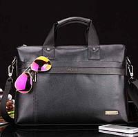 Большая деловая мужская сумка-портфель Polo Черная