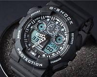 Спортивные часы Casio G-Shock GA 100 черный с белым