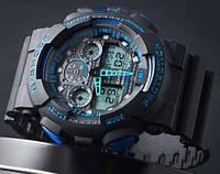 Спортивные часы Casio G-Shock GA 100 черный с синим