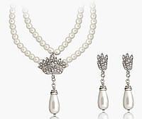Набор украшений ожерелье и серьги код 172