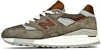 Мужские кроссовки New Balance 998, нью баланс коричневые