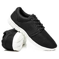 Женские кроссовки черные для фитнеса (беговые)
