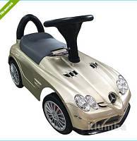 Каталка-толокар Mercedes на EVA колесах, автопокраска,золотой