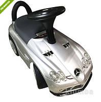 Каталка-толокар Mercedes на EVA колесах, автопокраска, серебро