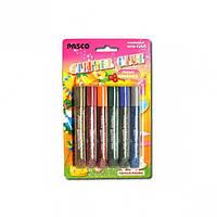 Клей с блёстками 10 мл «Pasco» 6 цветов multi colors