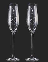 Свадебные бокалы VIP с камнями сваровски