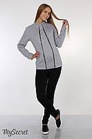 Теплые брюки-лосины для беременных Felicia теплые, из плотного трикотажа с начесом, черные