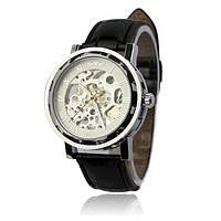 Механические часы Winner Hollow Silver