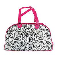 "Творчество и рукоделие «Color Me Mine» (6371461) сумочка ""Изменение цвета"" для уикенда с рисунком ""Бабочка"", 5 маркеров, 33х23 см"