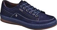 Мужские туфли Darkwood DW5554 Sport на шнурках, синие, нубук, весна- осень