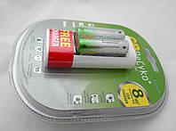 2 аккумулятора ReCyko+ 2000Ма + USB зарядка + USB блок 220v