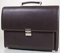 Классический мужской портфель из натуральной кожи KARYA (КАРИЯ) SHI0144-10, коричневый