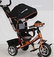 Детский трехколесный велосипед Crosser One T1 фара (EVA колеса) бронза