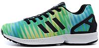 Мужские кроссовки Adidas Originals ZX 8000 Flux (адидас флюкс) зеленые с голубым