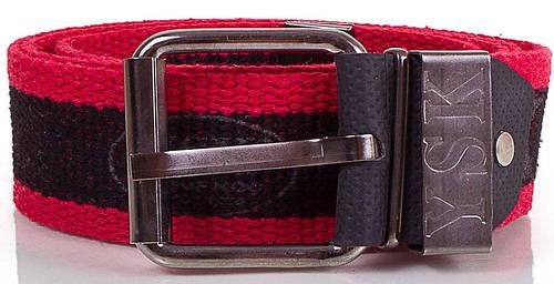 Эффектный мужской текстильный ремень 4,5 см. Y.S.K. (УАЙ ЭС КЕЙ) SHI-T-2, черный
