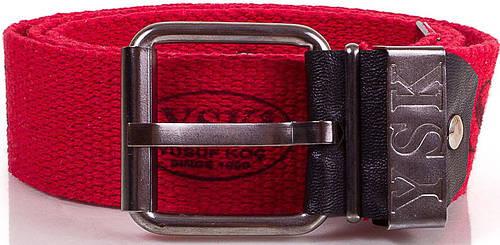 Яркий мужской текстильный ремень 4,6 см. Y.S.K. (УАЙ ЭС КЕЙ) SHI-T-1, красный