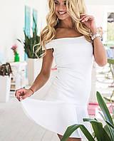 Летнее платье с открытыми плечами | Сен-тропе sk