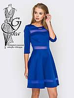 Красивое модное платье клеш-юбка с рукавом 3/4 Рада-2
